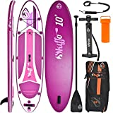 SKIFFO XX 10 SUP 300 x 76 x 12 cm Inflatable Isup aufblasbar Alu-Paddel Stand Up Paddle Board Set...