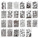 Ewparts 23 Stück PP Plastik Zeichnung Malerei Schablonen Skala Vorlage Sets, für Scrapbooking DIY...