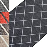 Teppichläufer Cosenza   Rauten Muster im Retro Look   viele Größen   moderner Teppich Läufer...