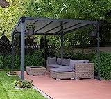 Aluminium Pavillon Überdachung Gazebo Milano 300 308x308 cm // Sommer-Pavillon und Garrtenpavillon...