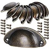 10 Stück Muschelgriff Schubladen Griffe Antik Vintage Griffe Bronze Schrank Griffe Antik...