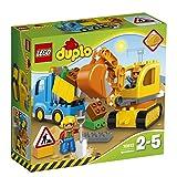 Lego 10812 Duplo Bagger und Lastwagen, Ideales Geschenk für zwei Jährige