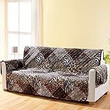 vivaDOMO Wende-Sofaschoner Safari, Stilistischer Couch Schutz Bezug zweiseitig gegen Schmutz und...