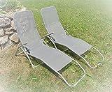 IMC 2x Relaxliege ---mit kleinen Fehlern--- mit Kippfunktion grau Saunaliege Sonnenliege Kippliege...