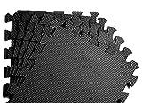 Schutzmatten Set von BeMaxx Fitness – 18 Puzzlematten | Bodenschutzmatten | Unterlegmatten |...