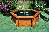 SECHSECK-HOCHTEICH diverse Größen mit Teichfolie und Teichpumpe Kieferholz imprägniert Gartendeko...