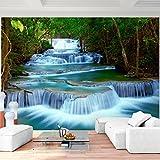 Fototapete Wasserfall 352 x 250 cm Vlies Wand Tapete Wohnzimmer Schlafzimmer Büro Flur Dekoration...