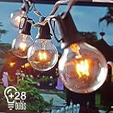 Heofean Lichterkette, G40 Außen Deko String Glühbirnen Listed, Wasserdichte String Lights, Für...