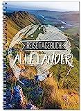 Reisetagebuch zum Selberschreiben alle Länder / Extra leichtes Notizbuch A5 Ringbuch mit 120 Seiten...