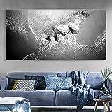 Wandbild Prints, Essort Leinwand Malerei, Schwarz und Weiß Love Kiss Kunstdruck Bild für...