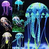 uniclife 6PCS Glowing Quallen Ornament Dekoration für Aquarium Fisch Tank