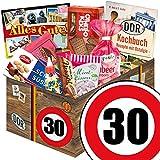 30 Geburtstag Geschenk DDR - Süssigkeiten Box mit DDR Waren + Geschenkverpackung 'Verkehrsschild...