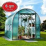 6m² Gewächshaus mit Stahlfundament Garten Treibhaus Tomatenhaus Pflanzenhaus Frühbeet...