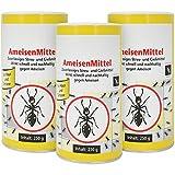 com-four 3X Ameisenmittel mit Köder je 250g, Streu- und Gießmittel Ameisengift, 750g (03 Stück -...