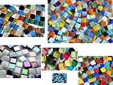 Kennenlernmix: 560 St. Mosaiksteine Bastelmix aus 6 versch. Art. alle 1x1cm ca. 410g