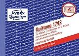 Avery Zweckform 1742 Quittung Kleinunternehmer (A6 quer, selbstdurchschreibend, 2x40 Blatt)...