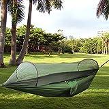 Camping Hängematte, Portable Folding Nylon Fabric Hängematte Zelt Pop Up Mosquito Net Ultralight...