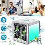 Mini Air Cooler Mobile Klimageräte Luftkühler mit Wasserkühlung Zimmer Klimaanlage Ventilator USB...