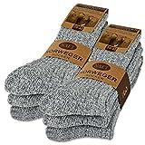 6 Paar Norweger Socken mit Wolle in Grau oder Anthrazit Herrensocken - AD220 (47-48, 6 Paar | Grau)