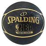 Spalding Ball NBA Highlight Outdoor, Schwarz/Gold, 7, 3001550019417