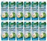 [ 12x 1 Liter ] YACO Kokosnusswasser 100% / Kokoswasser Coconut Water 100% Natural + ein kleines...