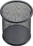 Helit H2518195 - Stifteköcher Mesh, 10 cm hoch, schwarz