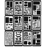 NBODY 12 Stück Zeichenschablonen, Kunststoff Zeichnung Skala Vorlage Sets Grafiken Schablonen für...