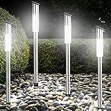 4x LED Solarleuchte Steckleuchte Gartenleuchte Solarlampe Gartenlampe mit Dämmerungssensor...