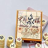 SwirlColor Holz Chinesisches Schach, pädagogisches Spielzeug für Erwachsene und Kinder
