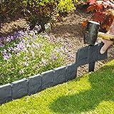 10Stück Dark Grau gepflasterten Stein Effekt Garden Rasenkante Pflanze Bordüre–einfach...