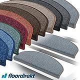 """Floordirekt 15 Stück Preiswerte Stufenmatten """"London"""" halbrund und rechteckig in 11 Farben..."""