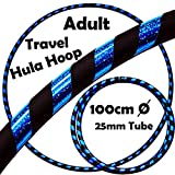 PRO Hula Hoops Reifen für Anfänger und Profis (Ultra-Grip/Glitter Deco) Faltbarer TRAVEL Hula Hoop...