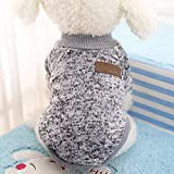 Idepet Haustier Katze Hund Pullover, warme Hund Pullover Cat Kleidung, Fleece Haustier Mantel für...