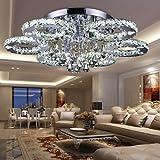 VINGO 88W LED Kristall Deckenleuchte Deckenlampe Modern Kronleuchter Pendelleuchte Hängeleuchte...
