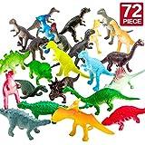 Figuren von Dinosauriern,72 Stücke Mini-Dinosaurier-Set,sicheres Material,Gemsichte...