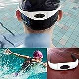 Chinatera Sport-Stereo-MP3-Player, Headset, mit FM-Radio, wasserdicht, für Schwimmen, Surfen,...