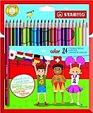 Buntstift - STABILO color - 24er Pack - mit 24 verschiedenen Farben inklusive 4 Neonfarben