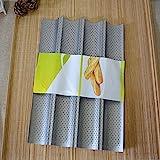 ECENCE Baguette Back Blech Baguetteform für bis zu 4 Baguettes Antihaft Beschichtung Backblech...