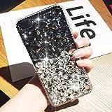 Etsue Glitzer Strass Handy Hülle für iPhone X Bling Glitzer Kristall Strass Diamant Silikon...