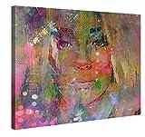 Premium Leinwanddruck 100x75 cm – Thoughtful Girl – XXL Kunstdruck Auf Leinwand Auf 2cm...
