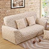 FORCHEER Sofabezug elastische Sofahusse Sesselbezug Stretchhusse Sofaüberwurf Couch Husse mit 4...