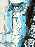 Sticker Selbstklebend oder zeigt Poster Design Gesicht Mann von _ 00032Dressurschabracke, Affiche...