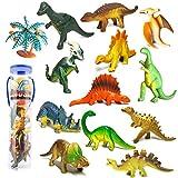 YIMORE Mini Dinosaurier Figuren Set Pädagogisches Realistische Dinos Spielzeug Kunststoff Modell...