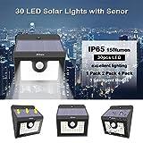 4 x 30 LED Solarleuchte garten, Solarwandleuchte mit Bewegungsmelder, 3 Intelligenten Modi,...