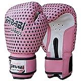 Farabi Kinder-Boxhandschuhe, MMA, Muay Thai Junior Boxsack Fäustlinge Rosa 4 Oz von