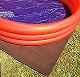 Poolunterlage Folienschutz Poolvlies Unterlage Unterlegvlies sehr dick! 1lfd mtr. 1,00 mtr breit...