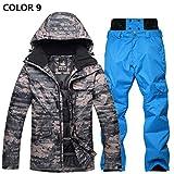 YFF Ski Anzug Anzug männlich wasserdichte Skijacke und Skihose warm