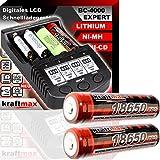 Original BC-4000 EXPERT Akku Ladegerät + 2x 18650 Li-ion Akkus speziell für Taschenlampen -...