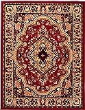 Carpeto Klassischer Orientteppich & Perserteppich mit Orientalisch Muster Kurzflor in Rot/Top Preis...