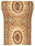 WE LOVE RUGS CARPETO Läufer Teppich Flur in Beige Creme - Orientalisch Muster - 3D-Effekt Dichter...